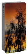 Trees In The Sunset Portable Battery Charger