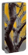 Winter Trees In Yellow Gray Mist 1 Portable Battery Charger