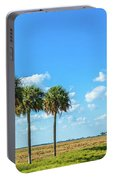 Trees On Landscape, Florida, Usa Portable Battery Charger