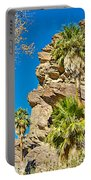 Trees On South Side Of Andreas Canyon In Indian Canyons-ca Portable Battery Charger