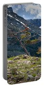 Trees On Top Of A Ridge At Glacier National Park Portable Battery Charger