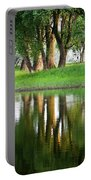 Trees Reflection On The Lake Portable Battery Charger