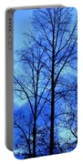 Trees So Tall In Winter Portable Battery Charger
