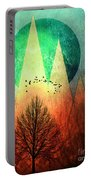 Trees Under Magic Mountains I I Portable Battery Charger