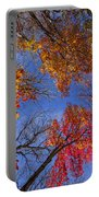 Treetops In Fall Forest Portable Battery Charger