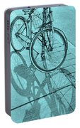 Tri-coloured Bicycle Print Portable Battery Charger