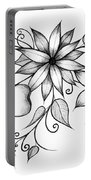 Tri-floral Sketch Portable Battery Charger