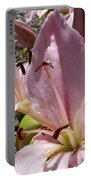 Tri Pink Lily Portable Battery Charger