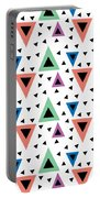 Triangular Dance Repeat Print Portable Battery Charger