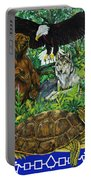 Tribal Gathering Portable Battery Charger
