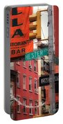 Tribute To Little Italy - Hester And Mulberry Sts - N Y Portable Battery Charger