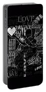 Tribute To Love In Black Portable Battery Charger