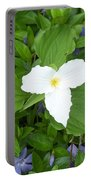 Trillium - White Beauty Portable Battery Charger