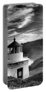Trinidad Light In Black And White Portable Battery Charger by Adam Jewell