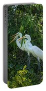 Trio Of Egret Love Portable Battery Charger