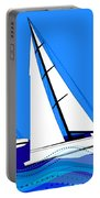 Trio Of Sailboats Portable Battery Charger