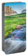 Triple Falls Stream Glacier National Park Portable Battery Charger