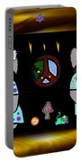 Trolls In Hippie Wood Portable Battery Charger