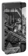 Trombone In New Orleans 2 Portable Battery Charger by David Morefield