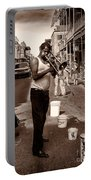 Trombone Man On Royal St. New Orleans Portable Battery Charger