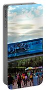 Tron Monorail At Walt Disney World Portable Battery Charger by Thomas Woolworth