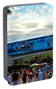 Tron Monorail At Walt Disney World Portable Battery Charger