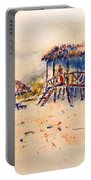 Tropical  Beach Hut Portable Battery Charger