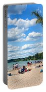 Tropical Beach In Port Dover Portable Battery Charger