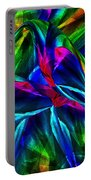Tropical Bird Sits On A Tropical Tree Portable Battery Charger