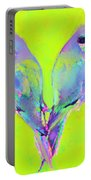 Tropical Birds Blue And Chartreuse Portable Battery Charger