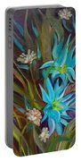 Tropical Blue Portable Battery Charger