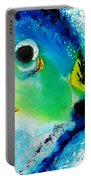 Tropical Fish 2 - Abstract Art By Sharon Cummings Portable Battery Charger