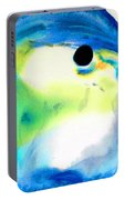 Tropical Fish 3 - Abstract Art By Sharon Cummings Portable Battery Charger