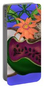 Tropical Fruit Portable Battery Charger by Christine Fournier