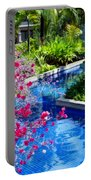 Tropical Garden Around Pool Portable Battery Charger