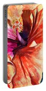 Tropical Hibiscus Portable Battery Charger