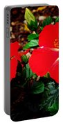 Tropical Hibiscus - Starry Wind 01a Portable Battery Charger