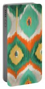 Tropical Ikat II Portable Battery Charger