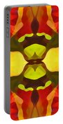 Tropical Leaf Pattern 1 Portable Battery Charger
