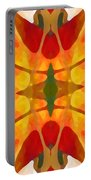 Tropical Leaf Pattern5 Portable Battery Charger
