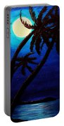 Tropical Moon On The Islands Portable Battery Charger