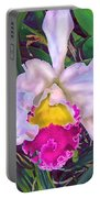 Tropical Orchid Portable Battery Charger
