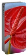 Tropical Red Anthurium Portable Battery Charger