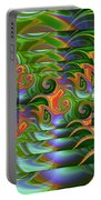 Tropical Swirls Layered Portable Battery Charger