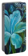 Tropical Turquoise Portable Battery Charger