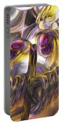 Tropical Wind Painted Abstract Portable Battery Charger