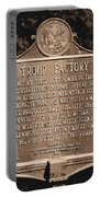 Troup Factory Historical Marker Portable Battery Charger