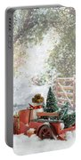 Truck Carrying Christmas Trees Portable Battery Charger
