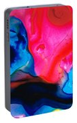 True Colors - Vibrant Pink And Blue Painting Art Portable Battery Charger
