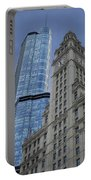 Trump And Wrigley Facades Portable Battery Charger